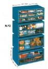 Estante Metalo-Plásticas N.º 2 - com 6 Gavetas